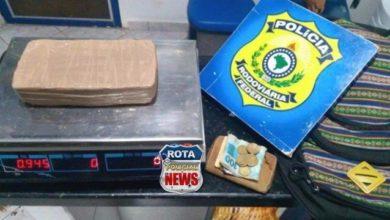 Foto de Em Vilhena, Polícia Rodoviária Federal prende casal transportando cerca de 1 Kg de cocaína