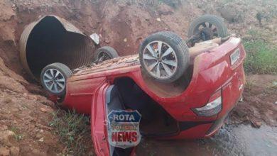 Photo of Carro cai dentro de riacho em Corumbiara e vítima sofre leves escoriações