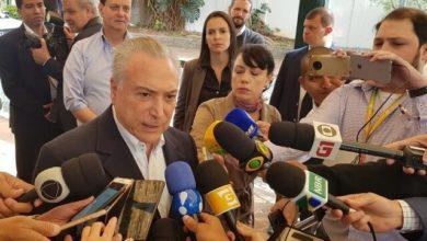 Photo of Após votar em SP, Temer diz que transição para novo governo está 'praticamente organizada'