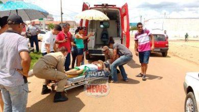 Photo of Motociclista atinge caminhão na avenida Melvin Jones e Bombeiros são acionados