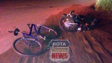 Photo of Ciclista apresenta afundamento de crânio e fratura exposta na perna após colisão frontal com moto
