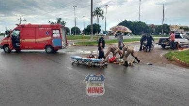 Photo of Motociclista sofre fratura exposta na perna após grave acidente
