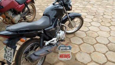 Foto de Polícia Militar recupera motocicleta com registro de roubo ou furto em Vilhena