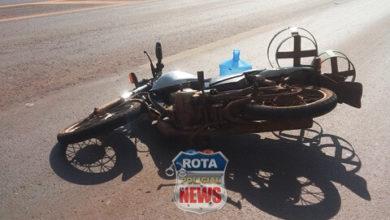 Foto de Motorista provoca acidente envolvendo mais duas motos e foge do local na BR-364 em Vilhena