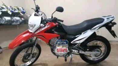 Foto de Motocicleta é roubada em frente ao mercado Sena,  na avenida 34, em Vilhena