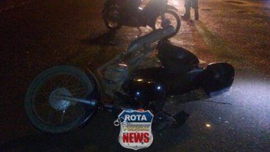 Photo of Mulher sofre ferimentos em acidente entre motocicletas na avenida Tancredo Neves no Jardim Eldorado