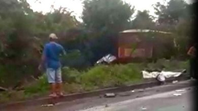 Foto de Colisão entre carreta e camionete na BR-364 entre Pimenta Bueno e Vilhena deixa uma vítima fatal