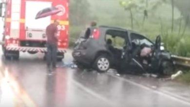 Photo of Sargento do Corpo de Bombeiros fica em estado grave após colisão contra camionete do deputado Leo Moraes na BR-364