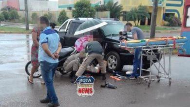 Photo of Motociclista fratura perna em acidente ocorrido na tarde de sexta-feira em Vilhena