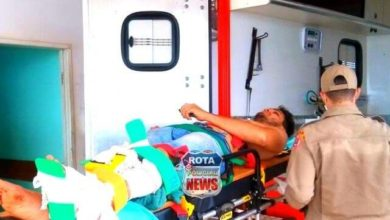 Foto de Cinco feridos, um deles com fratura, após capotamento na BR-174 próximo a Vilhena