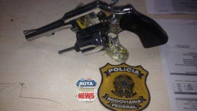 Photo of PRF prende motorista com revólver de calibre 38 sem possuir porte de armas na BR-174 em Vilhena