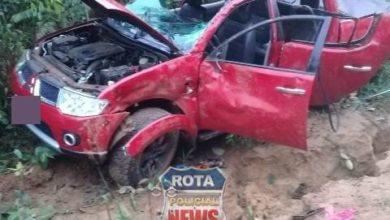 Photo of Dois feridos após capotamento de camionete na BR-174 em Vilhena