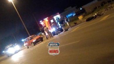 Foto de Colisão entre moto e carro na BR-364 deixa uma pessoa ferida em Vilhena