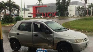 Foto de Acidente resulta em danos materiais na avenida Marques Henrique com Marechal Rondon
