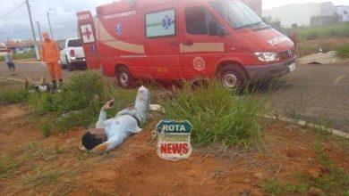 Photo of Camionete para em cima de moto em acidente que deixou motociclista e ciclista feridos em Vilhena