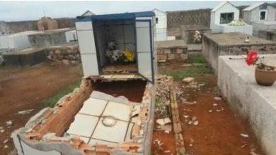 Photo of Bandidos arrombam túmulo e roubam caixão com morto em cemitério