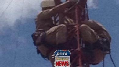 Photo of Bombeiros salvam a vida de homem que subiu em torre próximo ao IESA