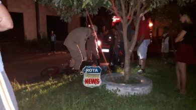 Foto de Dois feridos em acidente envolvendo motocicletas na avenida Melvin Jones em Vilhena