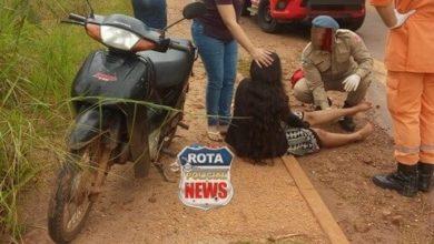 Photo of Buraco em avenida fez com que motociclista caísse de moto e sofresse ferimentos