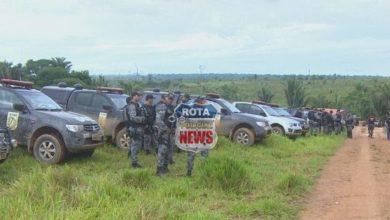 Foto de PATAMO realiza operação para reintegração de posse em Chupinguaia com oficial de justiça e prendem sem terras e apreendem armas de fogo