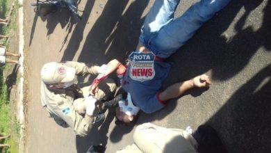 Photo of Motociclista se envolve em grave acidente de trânsito no Centro e sofre fratura exposta
