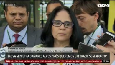 Foto de Nós queremos Brasil sem aborto', diz futura ministra de Mulher, Família e Direitos Humanos