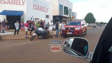 Photo of Motociclista sofre escoriações após ser atingida por camionete F-1000