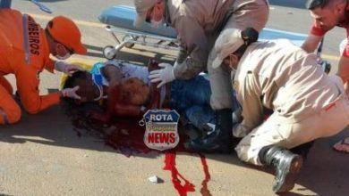 Photo of Motociclista sofre politraumatismo em grave acidente na BR-364, motorista de carreta fugiu e acabou preso pela PM