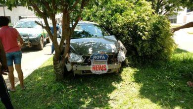Photo of Motorista que havia acabado de sair de vistoria no CIRETRAN perde controle e derruba árvore na avenida Tancredo Neves