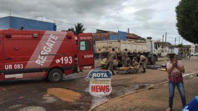 Photo of Imagens fortes: Casal é esmagado por caminhão caçamba em Ji Paraná; homem morre no local e esposa no hospital