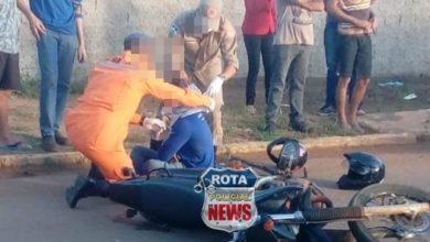 Photo of Dois feridos após colisão entre motocicletas na avenida Paraná em Vilhena
