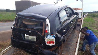 Photo of Acidente entre carreta e carro de passeio resulta em danos materiais na BR-364 em Vilhena