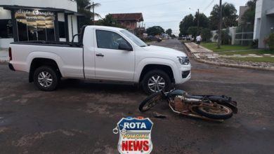 Photo of Motociclista sofre escoriações ao sofrer queda tentando evitar colisão no Centro