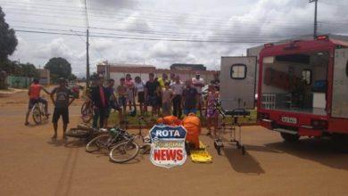 Photo of Idoso sofre ferimentos após acidente entre moto e bicicleta no bairro Cristo Rei
