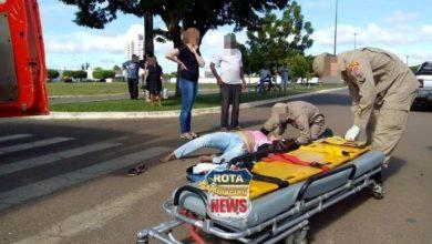 Photo of Grave acidente no cruzamento da BR-174 com avenida Tancredo Neves deixa motociclista com fratura