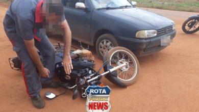 Photo of Colisão entre carro e moto resulta em danos materiais na avenida Tancredo Neves