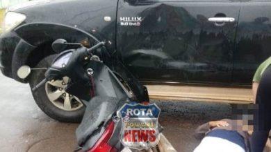 Photo of Motociclista fica ferida em acidente na frente do CEEJA em Vilhena
