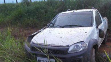 Photo of Fiat Strada perde controle e tomba na BR-429, próximo a Alvorada do Oeste