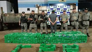 Photo of Polícia apreende uma tonelada de maconha em fundo falso de caminhão, em Chapadão do Céu