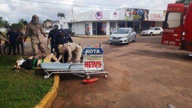 Photo of Motociclista atinge veículo e sofre ferimentos no bairro Jardim Eldorado