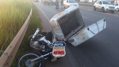 Photo of Motociclista atinge traseira de carro da fiscalização do CREA na BR-364