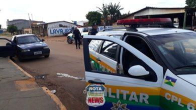 Foto de Radiopatrulha se envolve em acidente durante perseguição a motociclista armado