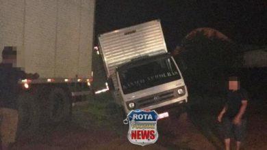 Foto de Caminhão cai em buraco no bairro 5ºBEC em Vilhena
