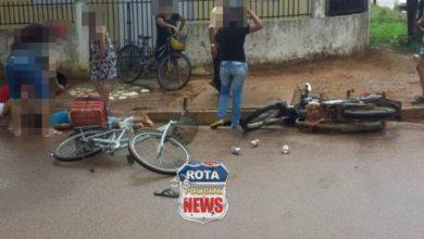 Photo of Dois feridos em colisão entre moto e bicicleta na avenida Vitória Régia em Vilhena