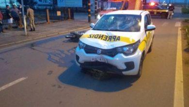 Photo of Motociclista atingido por carro de auto escola fica desacordado na BR-174