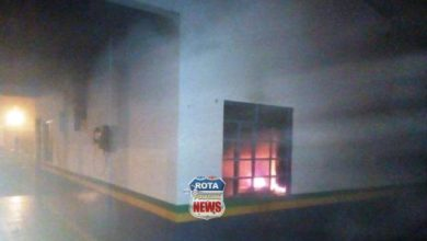 Photo of Base comunitária da Polícia Militar da avenida Melvin Jones é incendiada por criminosos