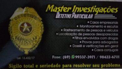Photo of Vilhena agora conta com a Master Investigações, serviços de detetive particular