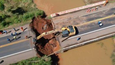 Foto de PRF atualiza informações sobre interdição de ponte em Cacaulândia/RO