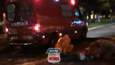 Photo of Entregador de pizzas sofre vários ferimentos após atropelar homem com sinais de embriaguez