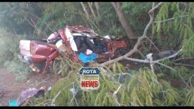 Foto de Mãe e irmã de gerente de fazenda em Cerejeiras morrem em acidente grave na BR-174